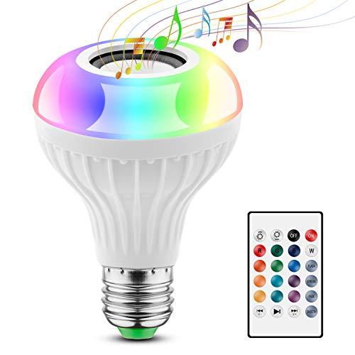 2 EN 1 Lampe Ampoule Bluetooth LED Couleurs Télécommande E27 Enceinte Musique Hauts-parleurs RGB Ampoule Couleur Intelligente Musique Lecture de musique Ampoules Spéciales