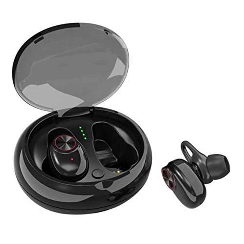 Bluetooth Oortelefoon 5.0,Draadloze Oordoppen, Sport Ruisonderdrukking Oordoppen, 120H Speeltijd, Waterdichte In-Ear Draadloze Ingebouwde Mic Headset Voor IPhone En Android Met Opladen Case (Kleur : ZWART)
