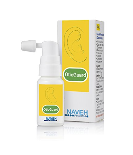 Otic Guard Natural Ear Wax Removal Spray – Herbal-Oil Blend for Ear Infections and Ear Pain in Adults – Ear Wax Softener for Clogged Ear Relief and Swimmer's Ear by Naveh Pharma, 0.5 Oz.