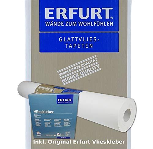 Wacolit-Set 3 Rollen 56,25m² Erfurt Variovlies ECO 150 inkl. 3x Vlieskleber Ecovlies Glattvlies Renoviervlies