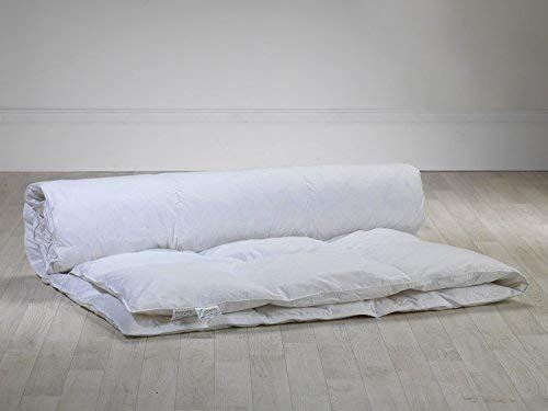 10.5 Tog Double Bed Natural Duck Feather and Down Anti-Allergy Duvet by Lancashire Textiles