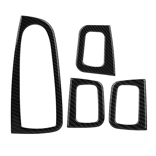 KIMISS 4 Stücke Auto ABS Carbon Fenster Schalter Knopfabdeckung Abdeckung Fenster Button Panel Trim für C-klasse W205 2015-2018, GLC Klasse X253 2016-2018