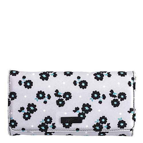 Jujube Be Rich, Travel Accessory-Tri-Fold Womens, Black Beauty, Large Wallet