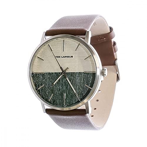 Orologio analogico in pelle e acciaio da uomo Ted Lapidus,