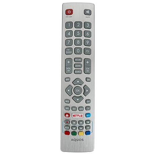 VINABTY SHWRMC0115 Aquos Fernbedienung mit Netflix YouTube passend für Sharp LC-70UI9362K LC-65UI7352K LC-60UI9362K LC-43UI7352K LC-40UI7552K 4K UHD Smart LED TV