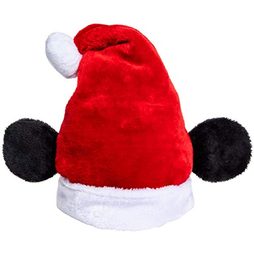 Disney Christmas Holiday Hat - Mickey Mouse Santa Hat with, Red, Size One Size