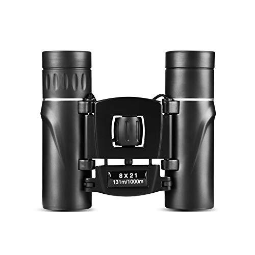 Camisin Lente PortáTil Telescopio de PrismáTicos con Zoom Teleobjetivo Compacto 8X21 Telescopio Potente HD Plegable de Larga Distancia