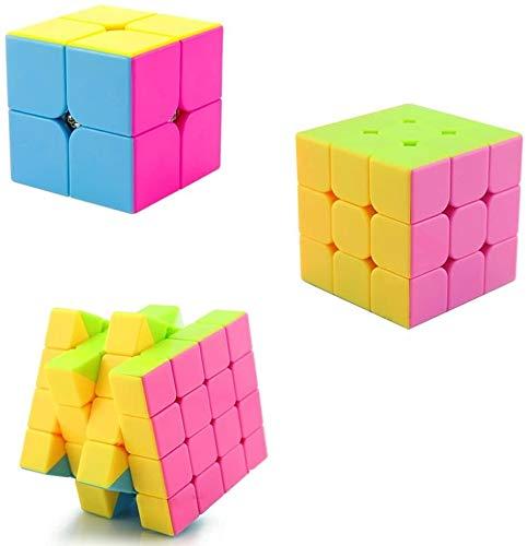 RENFEIYUAN Conjunto de MA clásico de 2x2x2 3x3x3 4x4x4 Racing Profesional Rubik...