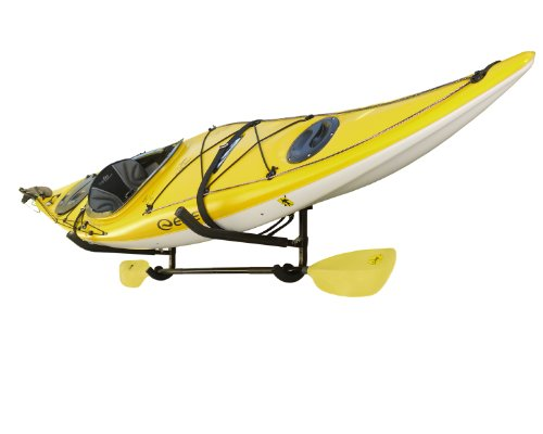 Sparehand Single Kayak/SUP Foldable Wall-Mount Storage Rack with Paddle Holder and Safety Strap