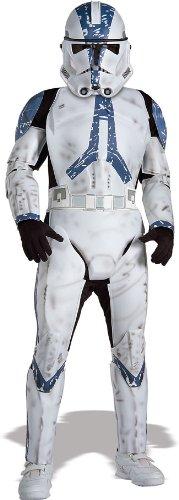 Rubie's Deluxe Clone Trooper Kinder Kostüm Star Wars Kinderkostüm Größe M 5-7 Jahre