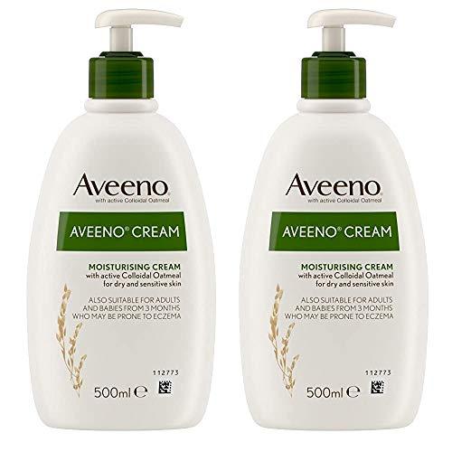 2 x 500ml Moisturising Body Cream Dry Sensitive Skin Hydrating Lotion