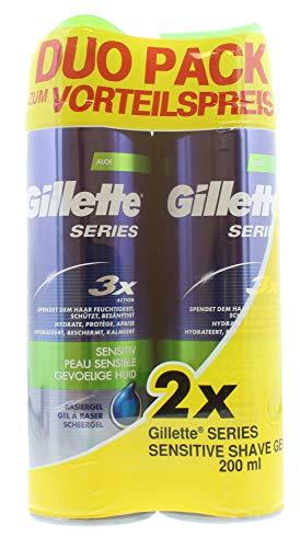 Gillette Series Shave Gel Piel Sensible, 400 ml