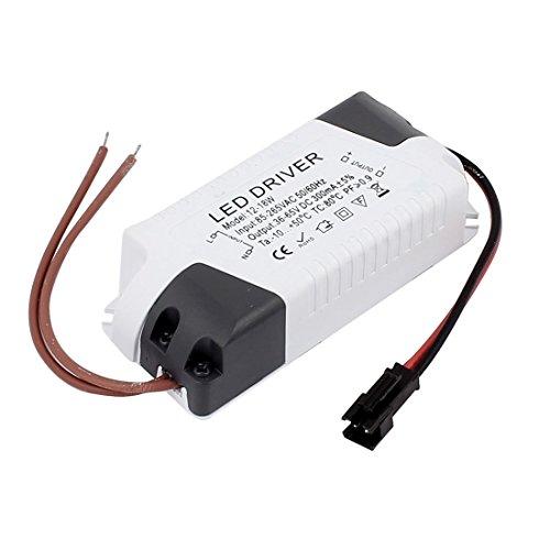 DealMux AC85-265V a DC36-65V 12-18W Transformador de la lámpara de Techo LED de la Fuente de alimentación del Controlador