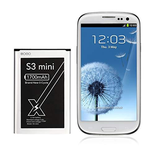 DEJIMAX S3 Mini Batería, Batería de Alta Capacidad de 1700 mah para Samsung Galaxy S3 Mini /I8190/EB425161LU