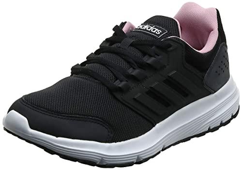 adidas Galaxy 4, Zapatillas de Running Mujer, Negro (Core Black/Core Black/True Pink Core Black/Core Black/True Pink), 44 EU