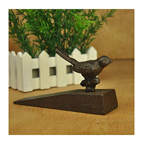 Heavy Duty Gietijzer Cute Deur Stopt, Antieke Stijl, Decoratieve Schattige Dieren, Standbeeld Deur Stopper Wedge, Winddicht Deur Holder Voor Patio Yard Garden Farmhouse, Zwarte Vogel