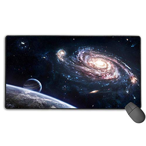Milkyway Earth Mouse Pad Fashion Non-Slip Rubber Gaming Mouse Pad, Mouse Pads for Computers Laptop 15.8x29.5 in