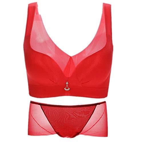 N\P Ropa interior para mujer sin anillo de acero. rojo 100B