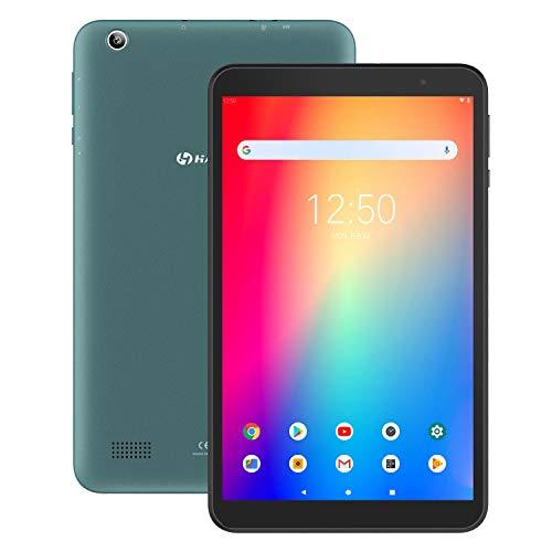 Tablet 8 Zoll Android 90 HAOQIN Tablet PC H8 Pro Quad Core CPU 32GB ROM 1280 x 800 HD IPS Displays WiFi Bluetooth FM Google ZertifiziertesBlau