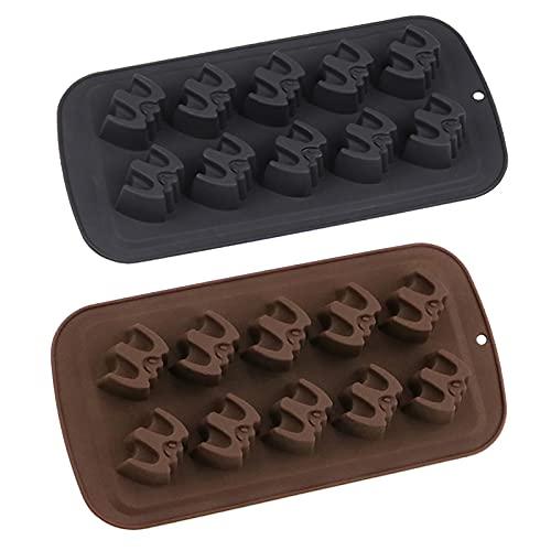 Molde de silicona para chocolate de policarbonato, 2 paquetes de moldes para tabletas de chocolate para suministros de decoración, 21 × 11 × 2 cm