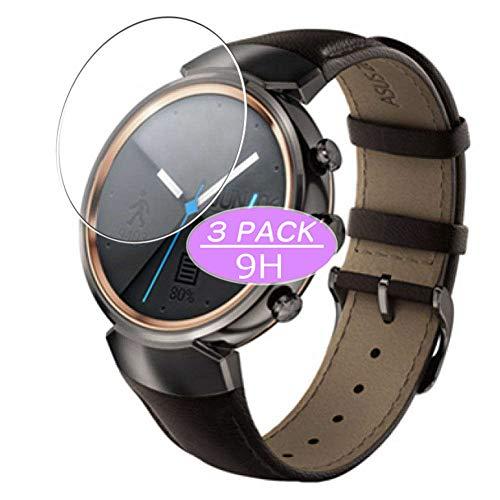 VacFun 3 Piezas Vidrio Templado Protector de Pantalla, compatible con Asus ZenWatch 3 WI503Q 45mm, 9H Cristal Screen Protector Protectora Reloj Inteligente