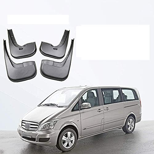 4 Piezas Aleta De Barro del Coche,Aletas Guardia Flap Auto Proteccion Styling Accessories,para Mercedes-Benz W639 Vito Viano 2012-2017