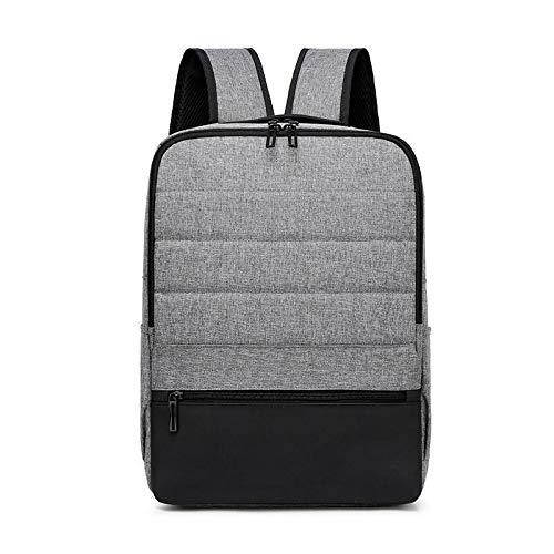 Wdonddonbb Multifunzione Men Zaino Moda Simple Business Bag Pacchetto Backbag (Color : Gray)