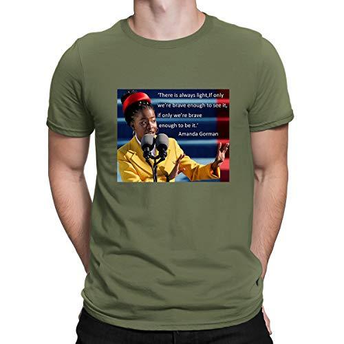 Fahsion - Camiseta de manga corta para hombre y mujer, diseño de Amanda Gorman se convirtió en el más joven poeta inaugural en Estados Unidos