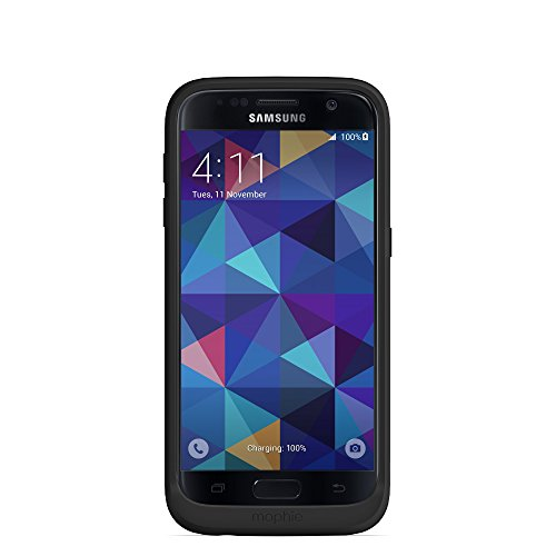 mophie Wireless Charging Battery Case for Samsung Galaxy S7 - Black