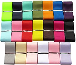 Chenkou Craft Assorted of 20 Yards Grosgrain Ribbon Total 20 Colors Mix Lots Bulk (1 1/2