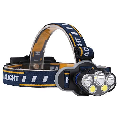 VNIUBI Linterna Frontal Súper Brillante LED, USB Recargable Lúmenes Luz Frontal Impermeable con 6 Leds y 8 Modos, Linternas Frontales Ajustable para Acampar Senderismo Correr Pesca Ciclismo