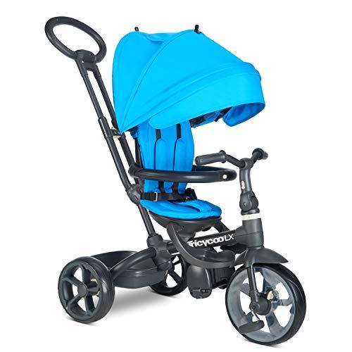 Joovy Tricycoo LX Kid's Tricycle, Push Handle, Adjustable Seat, 8...