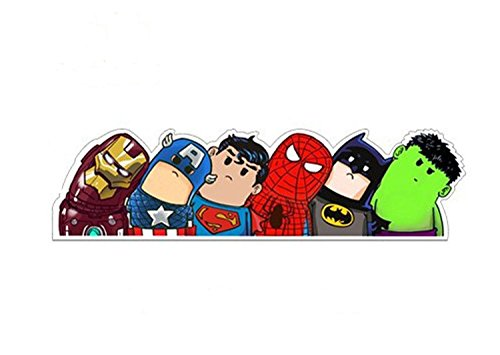 SUPERHELD Auto Aufkleber Ironman Captain America Superman Spiderman Batman & Hulk