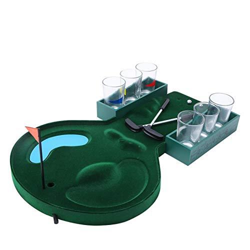 SALUTUYA Mini Juego de Golf de Mesa Grown Man Games con 6 Copas de Vino, para Entretenimiento, para Relajarse