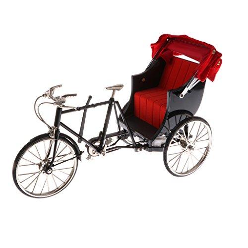 Sharplace 1:10 Miniatur Fahrrad/Rennrad/Dreirad/Einrad Bike Modell Dekoration - 1 Stück - Schwarz, 6
