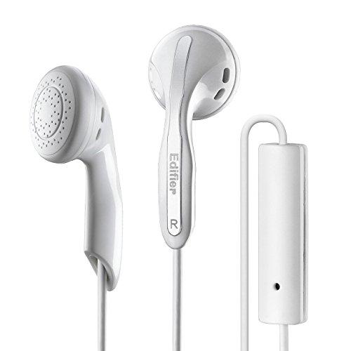Edifier P180 Computer- Headset-Kopfhörer mit Mikro- und Inline-Fernbedienung Stereo-Kopfhörer-Kopfhörer und Fernbedienung mit Mikrofon weiß