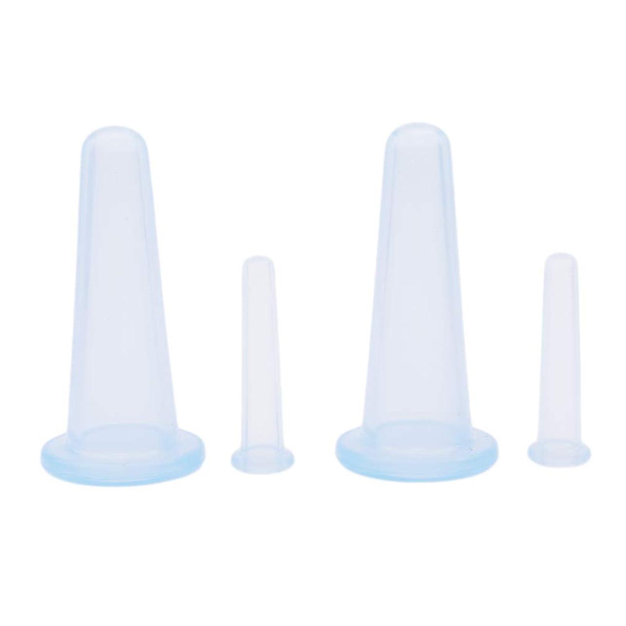 または流す鮮やかなJIOLK 吸玉 真空 カッピング シリコン 血流促進 4個セット マッサージカップ カッピングカップセット ネック 顔 吸圧器 疲労軽減