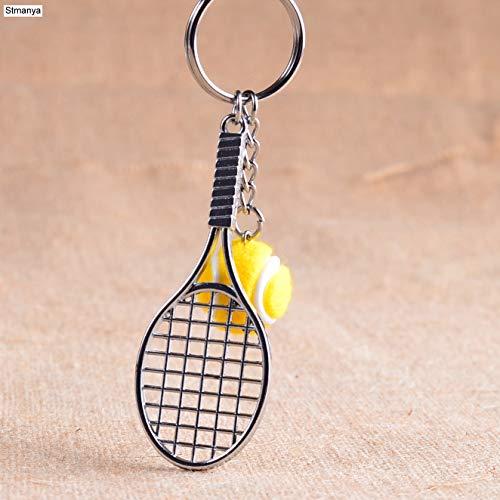 Llavero de raqueta de tenis - Cute Sport Mini Mini llavero Coche 6 colores Colgante Llavero Deportes Llavero Quién ama los regalos deportivos