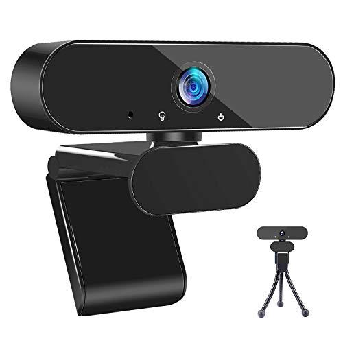 iTAKAT Webcam mit Mikrofon, 1080P HD Webcam Streaming Computer Webkamera USB Computerkamera für PC Laptop Desktop Videoanrufe, Konferenzen-Schwarz
