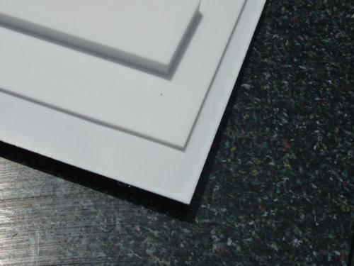 Platte aus PTFE, weiß, 195 x 195 x 1,0 mm (Teflon) Zuschnitt PTFE Dichtung