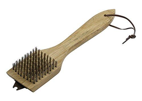 Brosse de nettoyage Dancook (produit n°120 149), grattoir à encoches et brosse, poignée en bois, 30 cm de longueur.