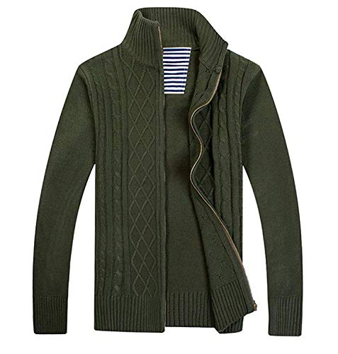 Nvfshreu Heren Vest Trui Rits Fit Slim Vest Vrije tijd Sweatshirt Lange Eenvoudige Stijl Clásico Mouw Herfst Winters Jas