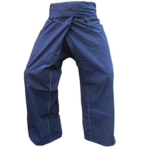 PANASIAM Fisherman Pants Stripe-Design, Dark Blue, L