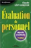Evaluation du personnel - Objectifs et méthodes