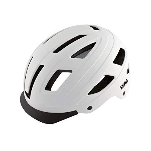 WAG BIKE Casco Per Bici CITY Hard Shell Bianco Opaco L (58-61 cm)