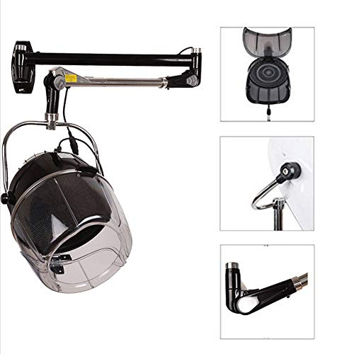 QINYUP 900W Mounted Portable Salon Hair Hood Dryer Wall Hairdressing Styling Hairdryer for Barbershop