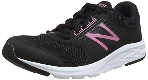 New Balance W411v1,Chaussures de Running Femme,Noir (Black/Pink Black) , 35 EU