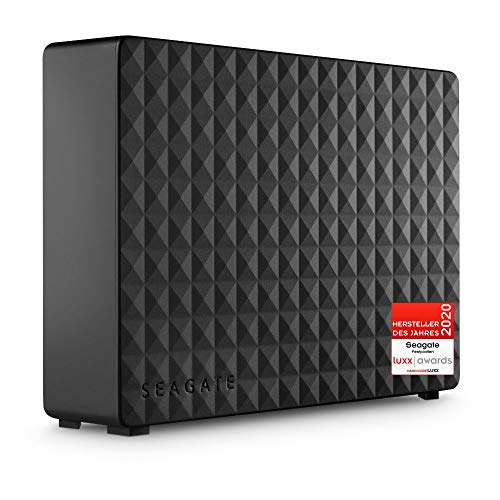 Seagate Expansion Desktop, externe Festplatte 6 TB, 3.5 Zoll, USB 3.0, PC, Notebook, Xbox & PS4k, inkl. 2 Jahre Rescue Service, Modellnr.: STEB6000403