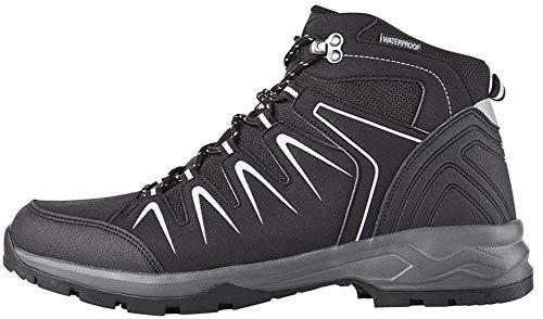 Crivit Herren Trekkingschuhe Trekkingstiefel Wanderschuhe Wanderstiefel Atmungsaktiv, Wasser- und windabweisend durch eingearbeitete TEXMembran (Anthrazit Schwarz, 47)