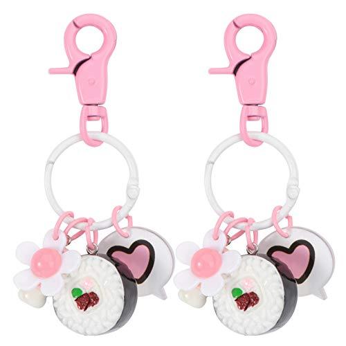 Amosfun Lot de 2 porte-clés sushi avec sangle pour écouteurs - Cadeau de Noël compatible avec AirPods